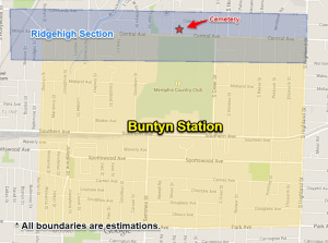 Buntyn's Station Map