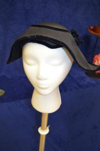 Navy velvet hat